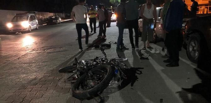 Motosiklet Kazasında Genç sürücü hayatını kaybetti