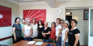 CHP'li kadınlardan   Emine Bulut cinayetine tepki