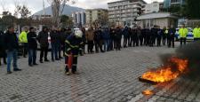 Soma Emniyetinde yangın tatbikatı