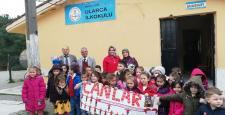 Canlar'ın minikleri Ularca'yı ziyaret etti