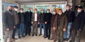 CHP'Lİ BAŞEVİRGEN'DEN SOMA ZİRAAT ODASI'NA ZİYARET